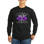 Knock Out Pancreatic Cancer Long Sleeve Dark T-Shi
