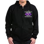 Knock Out Pancreatic Cancer Zip Hoodie (dark)