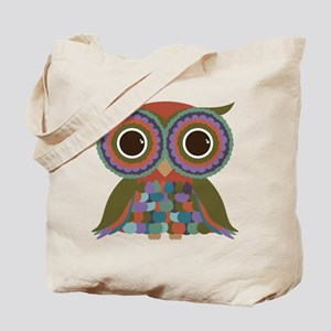 Little Colorful Owl Tote Bag