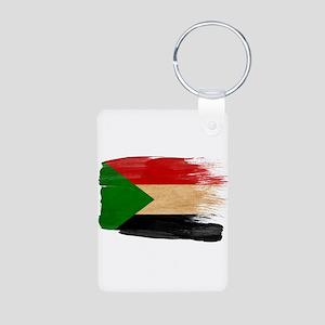 Sudan Flag Aluminum Photo Keychain