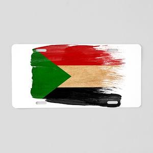 Sudan Flag Aluminum License Plate