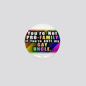 Gay Uncle Mini Button