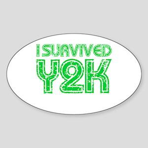 I Survived Y2K - Green Sticker (Oval)