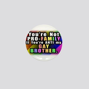Gay Brother Mini Button