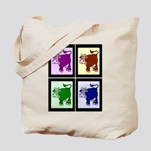 Pop Art Cows Tote Bag