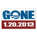 GONE 1.20.2013 Sticker (Rectangle)