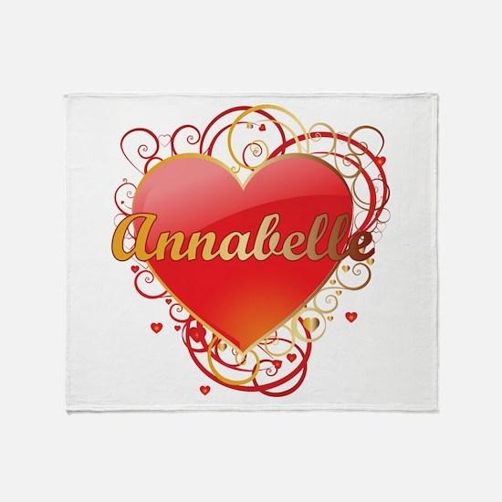 Annabelle Valentines Throw Blanket