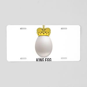 white king egg Aluminum License Plate