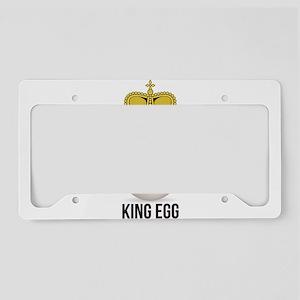 white king egg License Plate Holder