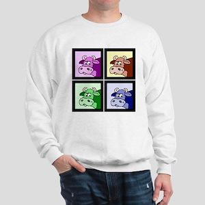 Pop Art Cows (head shot) Sweatshirt
