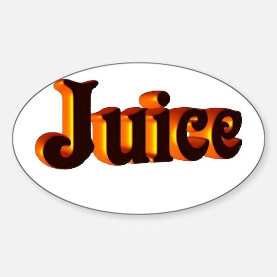 juice Sticker (Oval)