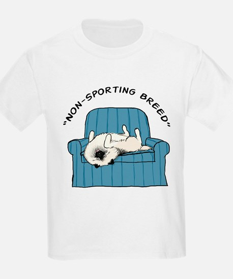"Keeshond ""Non-Sporting Breed"" Kids T-Shirt"