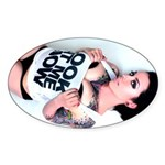 Look At Me Now - Liane Model Sticker (Oval)