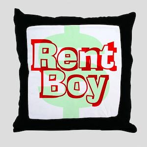 Rent Boy - White Throw Pillow