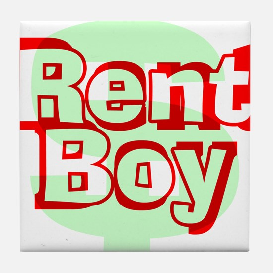 Rent Boy - White.png Tile Coaster