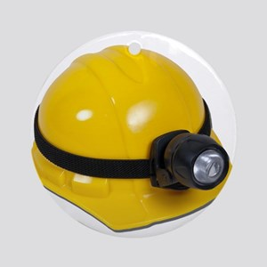 Hard Hat with Lamp Ornament (Round)