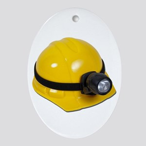Hard Hat with Lamp Ornament (Oval)