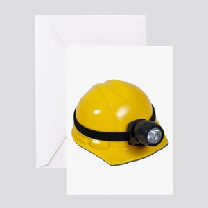 Hard Hat with Lamp Greeting Card