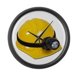 Hard Hat with Lamp Large Wall Clock