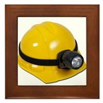 Hard Hat with Lamp Framed Tile