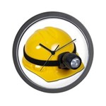 Hard Hat with Lamp Wall Clock