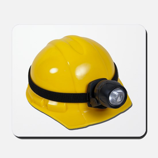 Hard Hat with Lamp Mousepad