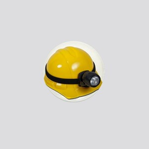 Hard Hat with Lamp Mini Button