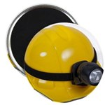 Hard Hat with Lamp Magnet