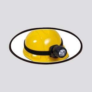Hard Hat with Lamp Patches