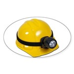 Hard Hat with Lamp Sticker (Oval 50 pk)