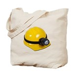 Hard Hat with Lamp Tote Bag