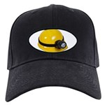 Hard Hat with Lamp Black Cap