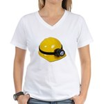 Hard Hat with Lamp Women's V-Neck T-Shirt