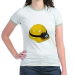 Hard Hat with Lamp Jr. Ringer T-Shirt