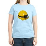 Hard Hat with Lamp Women's Light T-Shirt
