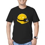 Hard Hat with Lamp Men's Fitted T-Shirt (dark)