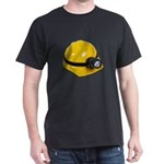 Hard Hat with Lamp Dark T-Shirt