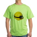Hard Hat with Lamp Green T-Shirt