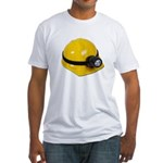 Hard Hat with Lamp Fitted T-Shirt