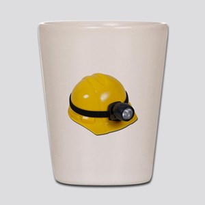 Hard Hat with Lamp Shot Glass