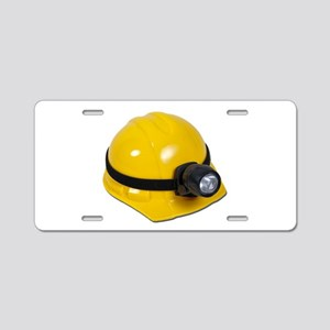 Hard Hat with Lamp Aluminum License Plate