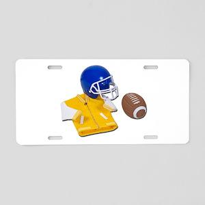 Letterman Jacket Football Hel Aluminum License Pla