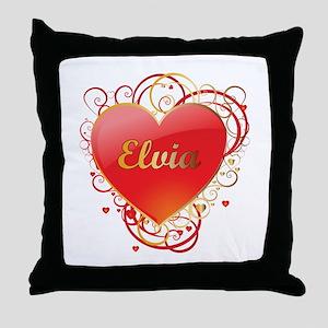 Elvia Valentines Throw Pillow