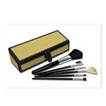 Makeup Brushes Wicker Box Postcards (Package of 8)