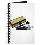 Makeup Brushes Wicker Box Journal