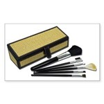 Makeup Brushes Wicker Box Sticker (Rectangle 50 pk