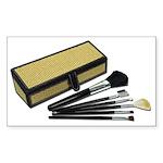 Makeup Brushes Wicker Box Sticker (Rectangle 10 pk