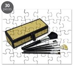 Makeup Brushes Wicker Box Puzzle