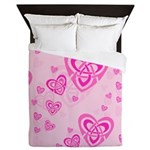 Celtic Hearts Queen Duvet Cover