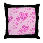 Celtic Hearts Throw Pillow